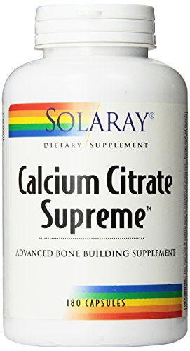 Solaray Calcium Citrate Supreme Capsules, 800mg, 180 Count