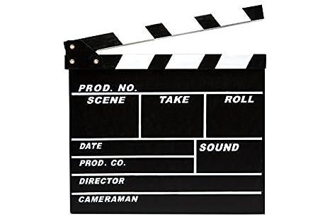 ciak cinematografico  CIAK CINEMATOGRAFICO MINI IN LEGNO 20X18 CM HOLLYWOOD II SET FILM ...