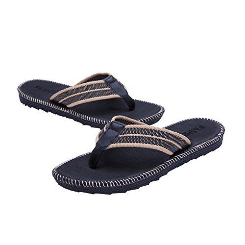 Mens Summer Flip Flops Shoes Sandals Male Beach Slipper Flip-Flops Black Raylx0