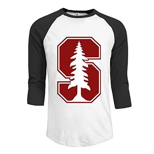 GUC Men's 3/4 Sleeve T-shirt - Stanford University Athletics Logo Black L (Mall Corpus Christi)