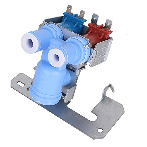 WR57X10032 Refrigerator Dual Solenoid Inlet Water Valve Part for GE/Hotpoint/RCA/General Electric/Kenmore 363 Models-Replaces Old Numbers: WR57X10040, ()