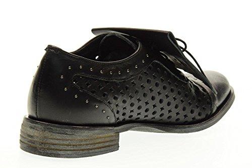 Avec Perforé U106 Femme Chaussure Black Gio Cellini Franges w7UUB