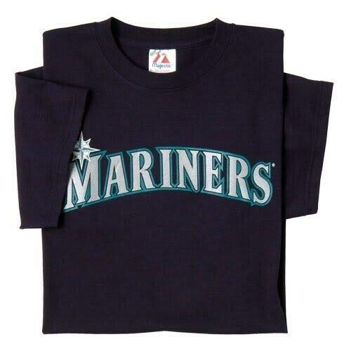 (Majestic Crew Neck Seattle Mariners Replica Youth Jersey 50/50 Blend SZ YS (R15))