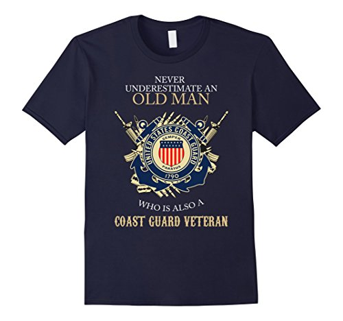 Men's U.S Coast Guard Veteran T-Shirt 2XL Navy