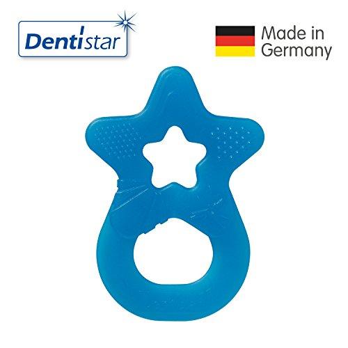 Dentistar Beiß-Stern zahnfreundlicher Beißring Farbe Blau