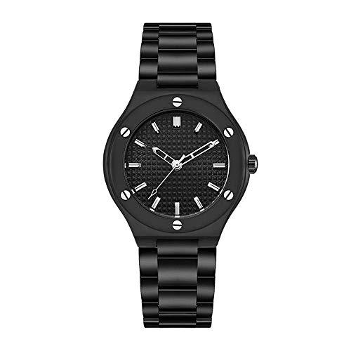 BEWITCHYU Practical Wristwatches Women 's Simple Ultra-Thin 9Mm Quartz Watch 28Mm Solid Steel Belt Casual Fashion Decorative Watch BraceletBlack