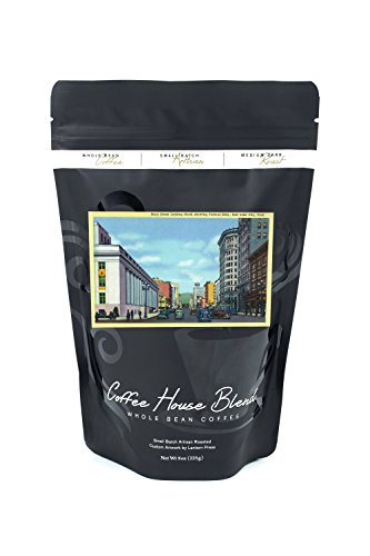 Salt Lake City  Utah   Northern View Down Main Street Towards Federal Building  8Oz Whole Bean Small Batch Artisan Coffee   Bold   Strong Medium Dark Roast W  Artwork