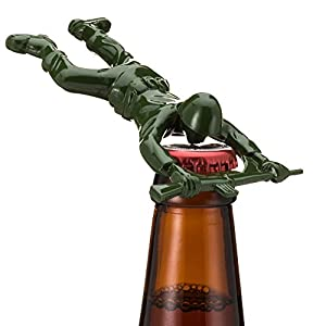 Down the Pike Sgt Pryer Green Army Man Bottle Opener, Fun Unique Gifts For Men - Cool Beer Gifts