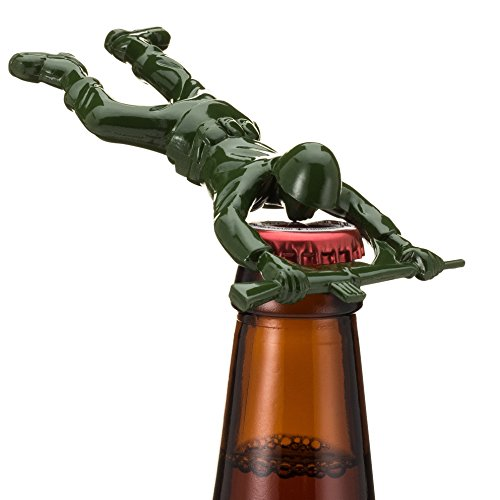 Down the Pike Sgt Pryer Green Army Man Bottle Opener, Fun...