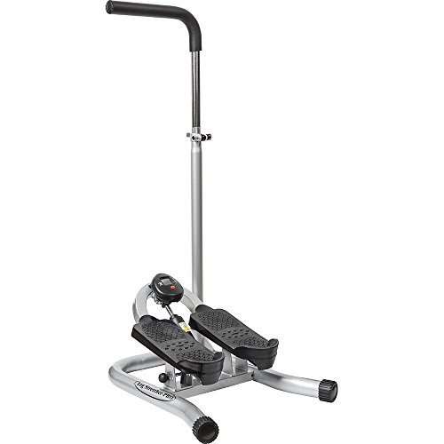 Taiwan Present GUNBELL Fitness Step Machine Pro Leg Stretcher with Adjustable Handle Bar, Flexible Stretch Level & LCD Display