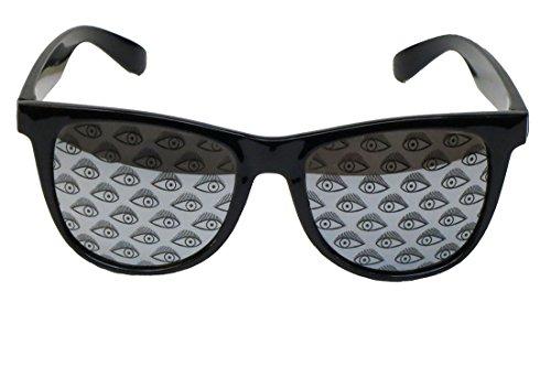 Corona Collection Oversized Fashion Sunglasses with Eye Print Lenses - Sunglasses Corona