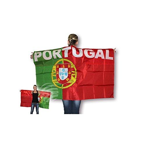 Cape Portugal Shopping x cm 10 Supporter Drapeau Cloak 90 150 Midi UF Flag nI5qZZ