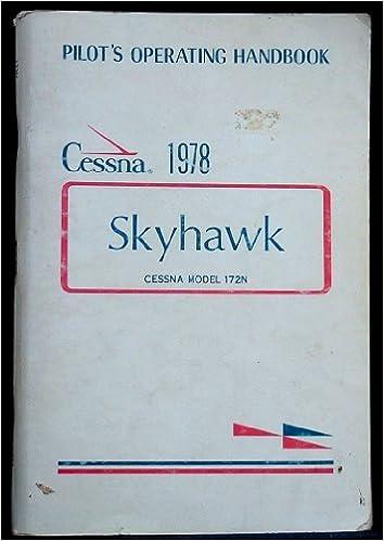 Book Cessna Pilot's Operating Handbook: Skyhawk 1978 Model 172N