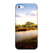 Rugged Skin Case Cover For Iphone 5/5s- Eco-friendly Packaging(scenery)