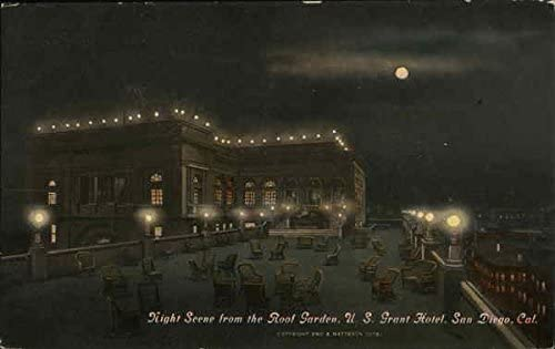 U S Grant Hotel Night Scene From Roof Garden San Diego California Ca Original Vintage Postcard At Amazon S Entertainment Collectibles Store