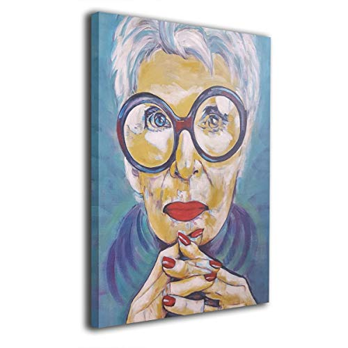 customgogo US Businesswoman Fashion Icon Art Hand Painted Oil Painting Abstract Canvas Wall Art Modern Style for Living Room,Dinning Room Home Decor Without Framed Stretched Ready to Hang ()