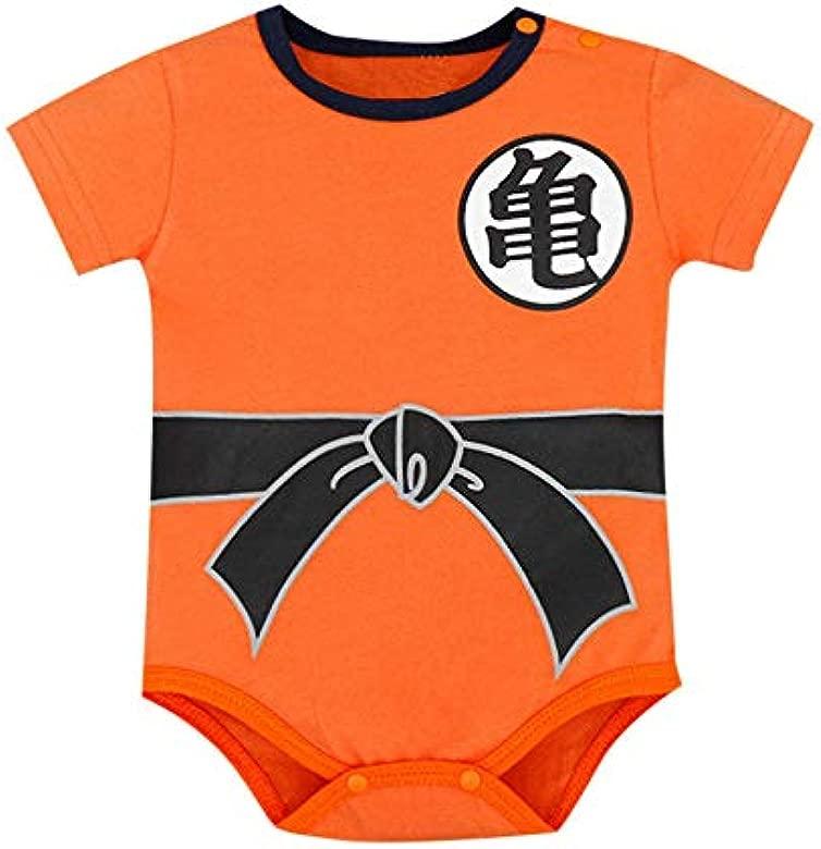 MAYOGO Mameluco Niño Ropa bebé Goku Manga Corto Camiseta Monos Chico O Cuello Pelele Recién Nacido bebé Niño Bodies Bebe Disfraz Verano Ropa de Dormir ...