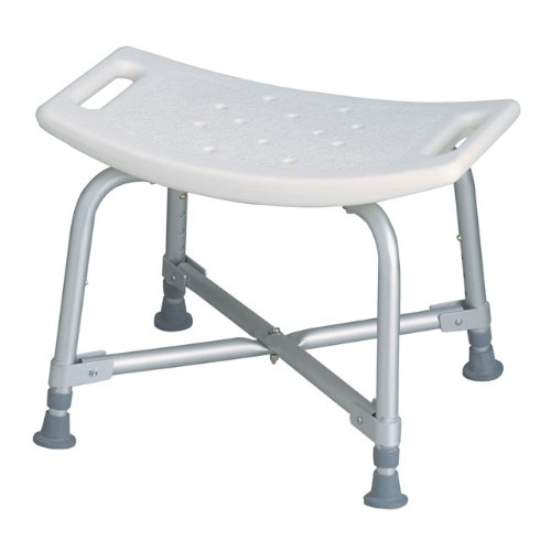 MDS89740AXW - Bariatric Bath Bench without Back by - Medline Aluminum Benches Bath