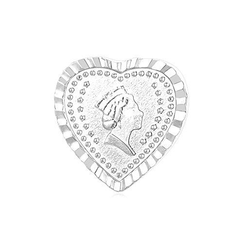 Amazon #DealOfTheDay: Platinum Plated British Queen Heart Shape Brooch