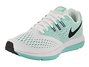 f0aadcdbda96e ... Nike Women s Zoom Winflo 4 White Black Aurora Green. upc 886549334437  product image1