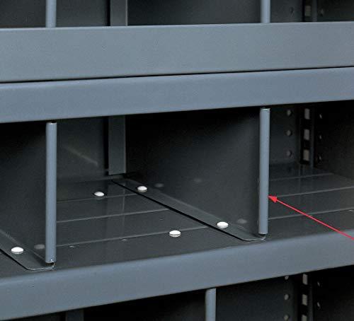 Shelf Divider, 18 In.D, 6 In.H, Gray