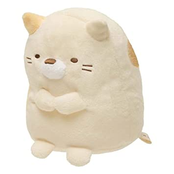 Muñeco de peluche kawaii de gato Sumikkogurashi con collar