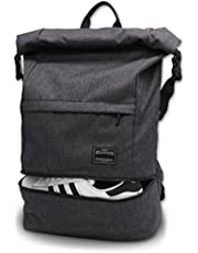 Travel Laptop Backpack, ITSHINY Rucksack Anti-Theft Laptop Bag Roll Top School Bag Water Resistant Lightweight Casual Daypack for Men Women