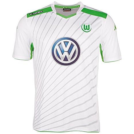 Kappa VFL - Camiseta de fútbol de manga corta, diseño del Wolfsburg blanco blanco Talla:small: Amazon.es: Deportes y aire libre