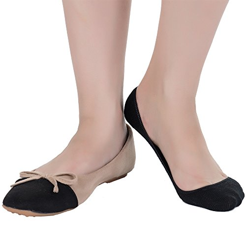 Ndoobiy 6 Pairs Women's No Show Socks Nonslip Invisible Low Cut Liner Summer Socks for Flats High Heels W1-Small Asst1