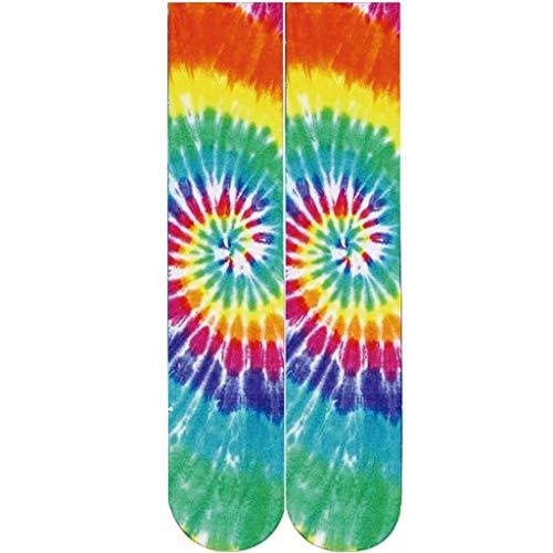 Price comparison product image Mens Summer 3D Food Hot Dog Humburger Banana Rainbow Printed Cotton Socks Novelty Ccolorful Crew Socks Unisex By GateLie (F)
