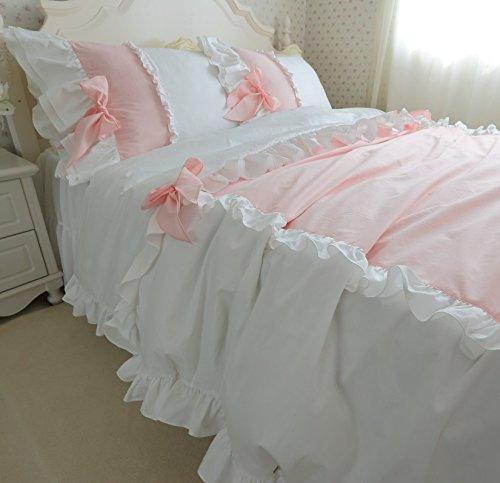 Amazon.com: FADFAY Girls Korean Kawaii Bedding Set Princess Cute Pink  Bowknot Duvet Cover Bed Set 4 Pieces: Home U0026 Kitchen