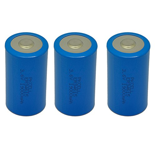 3 Pack D Cell 3.6V 19000mAh Lithium Battery ER34615 D Battery by PK Cell