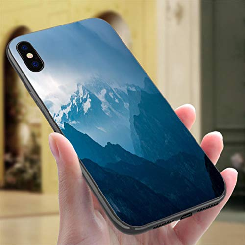 Creative iPhone Case for iPhone XR Italian Alps Monte Rosa Mountain Range Landscape at Sunset Resistance to Falling, Non-Slip,Soft,Convenient Protective Case