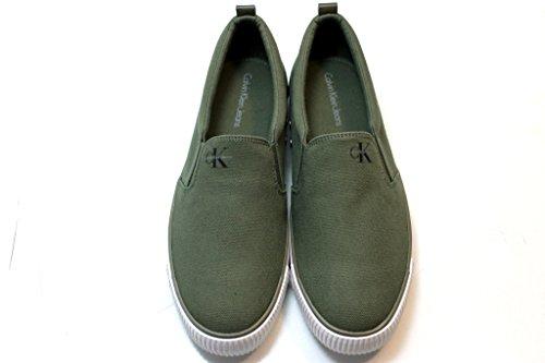 Calvin Klein Armand Canvas, Zapatillas Bajas para Hombre Verde