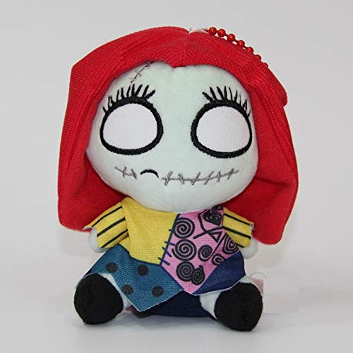 PAPWELL Sally Plush 6 inch The Nightmare Before Christmas Keychain Small Toy Mini Hanging Toys Stuffed Gift Halloween Collectable Birthday Gifts Cute Doll Collectibles Cool New Collectible for Kids -