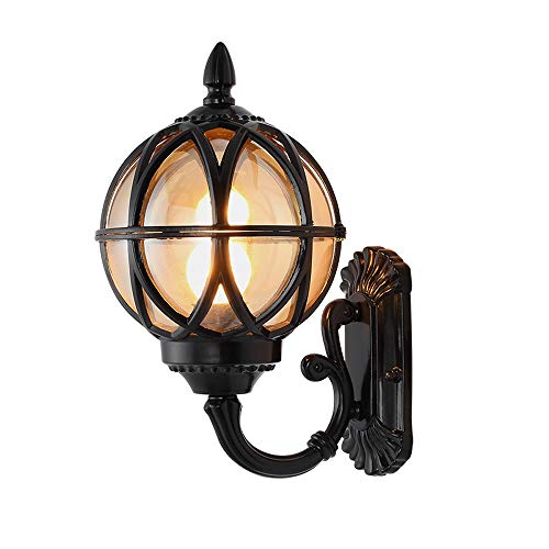 Modenny Europe Outdoor Wall Lamp American Style Retro Exterior Wall Lights Waterproof Wall Sconces Fashion Villa Garden Light Balcony Gateway Yard Wall Lanterns