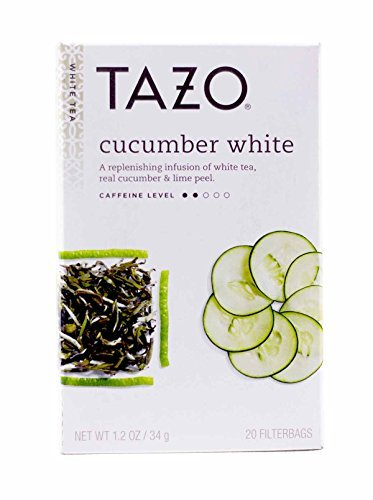 Tazo White Cucumber White Tea, 20-Count Tea Bags (Pack of 6)
