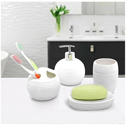 Ceramic Accessories Dispenser Toothbrush Tumbler