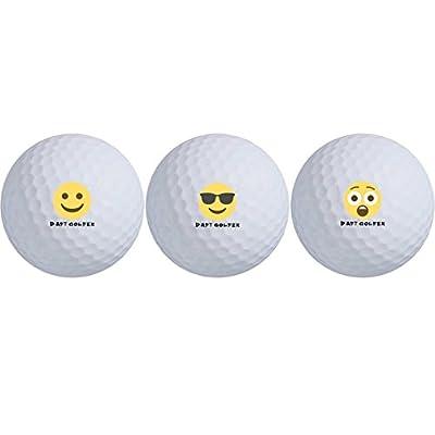 Daft Golfer Emoji Series Max Distance Golf Balls (3-Ball Pack)