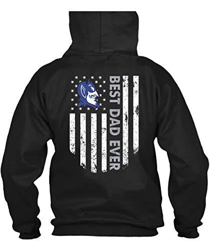 Duke Blue Devils Best Dad Ever T Shirt, Father's Day 2019 T Shirt - Hoodie (L, Black)