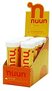 Nuun: Past Formula Electrolyte Enhanced Drink Tabs, Orange, Box of 8 Tubes