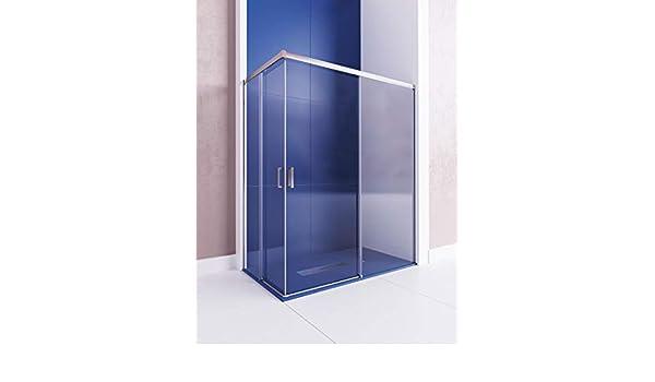 Modelo ASTRO - Mampara de ducha angular de 2 hojas fijas y 2 ...