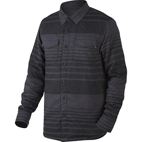 Oakley Men's Factory Pilot Flannel Hybrid/Jacket Shirts,Small,Jet Black