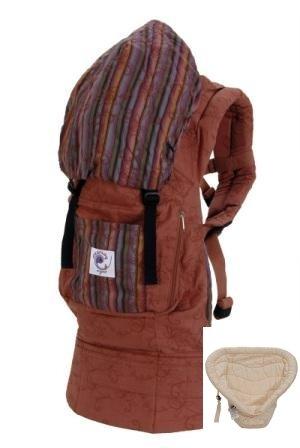Ergobaby - Mochila ergonómica portabebés con soporte para recién nacidos, color marrón Organic Beige Talla:Sienna Sunset: Amazon.es: Bebé