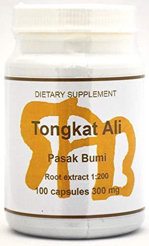 Tongkat Ali Extract 1:200 (200:1) Sumatra Pasak Bumi Brand - 100 300mg Capsules! FREE SHIPPING! ()