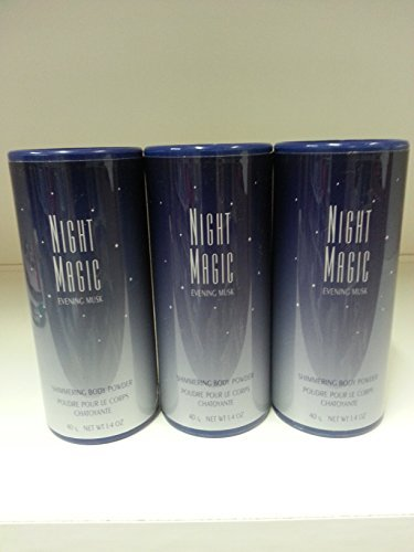 Avon Night Magic Perfumed Body Talc Powder 1.4 z Lot 3 Pcs