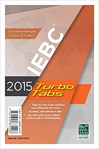 2015 International Existing Building Code Turbo Tabs for Paperbound Edition 1st Edition