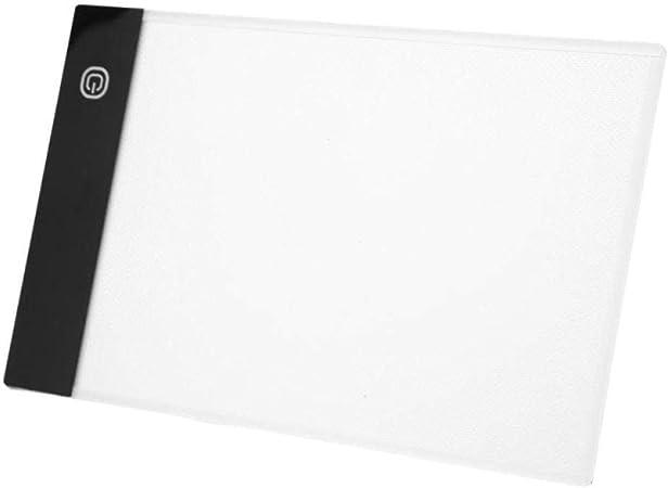 JZUO Mesas De Luz para Calcar Tableta Gráfica Digital A4 Tablero De Dibujo Led Caja De Luz Rastreo Almohadilla De Copia A5 Atenuación Continua: Amazon.es: Hogar