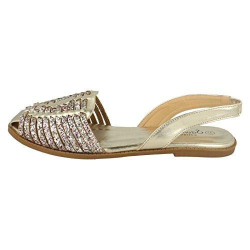 Savannah ,  Damen Sling Backs Gold
