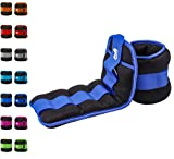 REEHUT Ankle Weight, Durable Wrist Weight 1 Pair Adjustable Strap for Fitness, Exercise, Walking, Jogging, Gymnastics, Aerobics, Gym - Blue